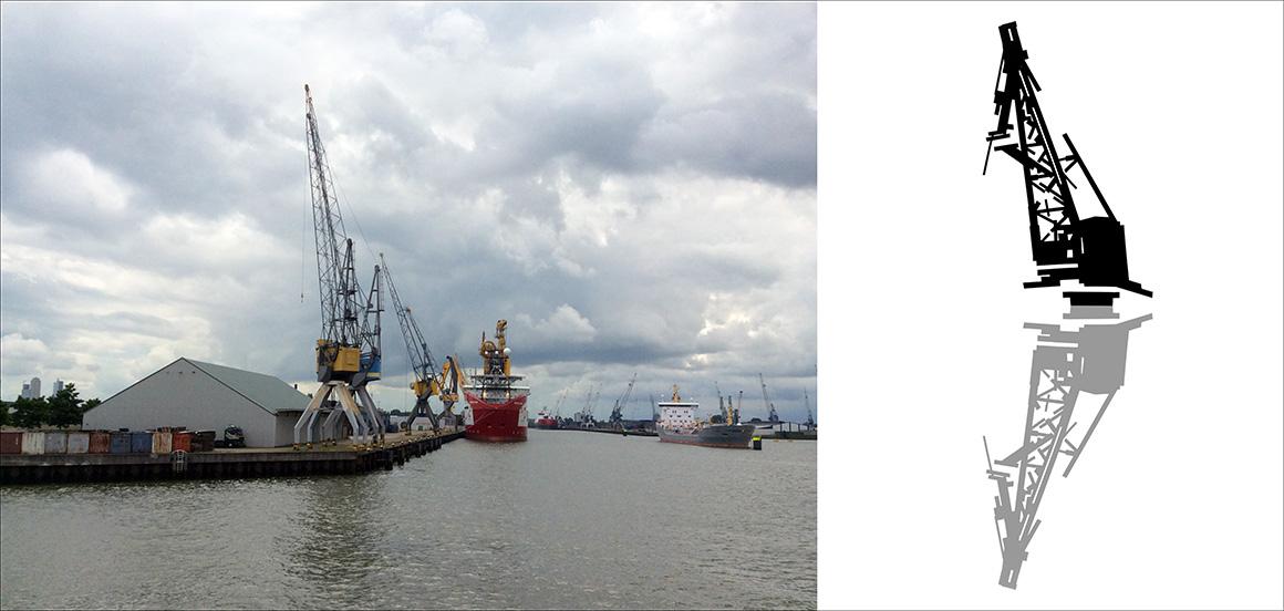 Dessin port de Rotterdam
