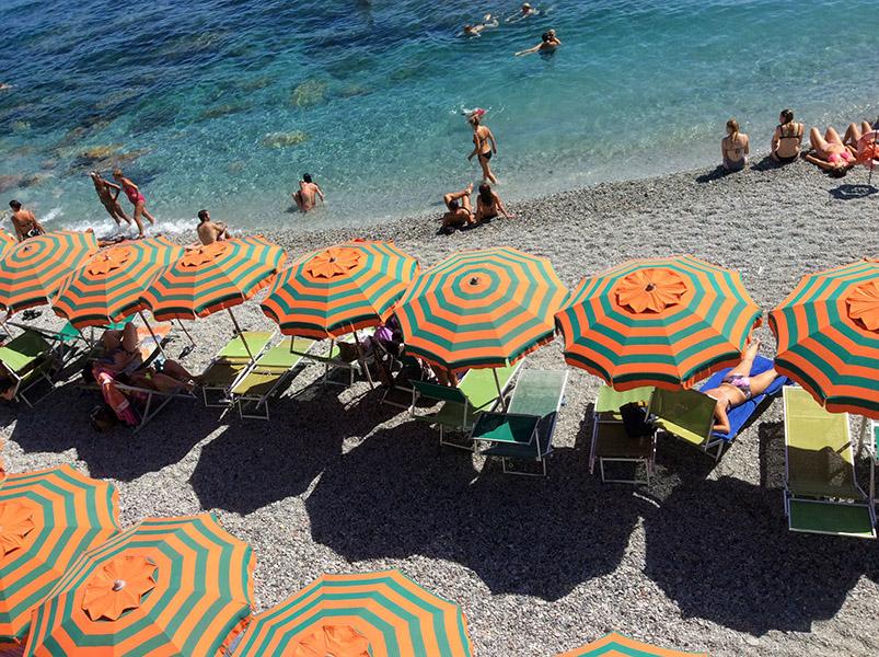 Plage, Monterosso, ITALIE