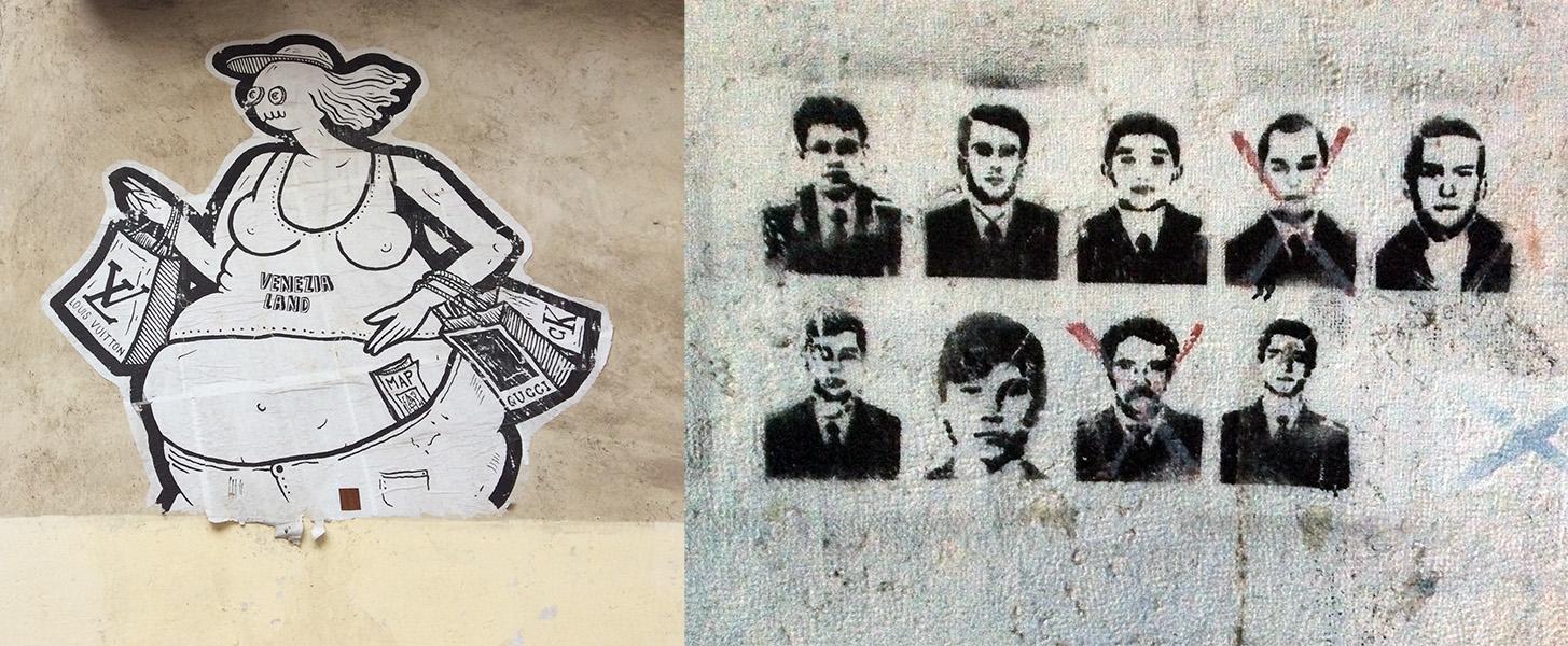 Street art, Venise, ITALIE