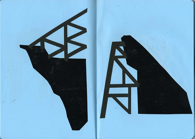 Collages inspirés des échafaudages à Porto